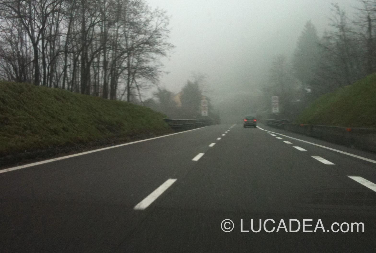 nebbia autostrada