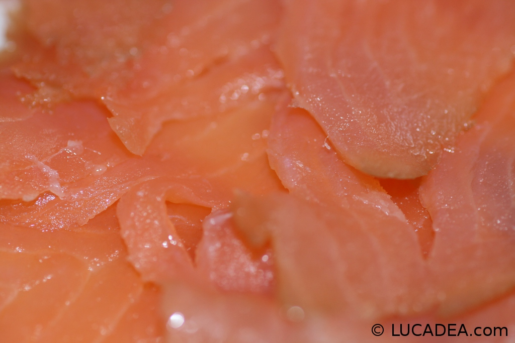 salmone affumicato macro