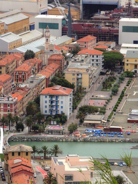 Nuovo ponte e passeggiata a Riva Trigoso