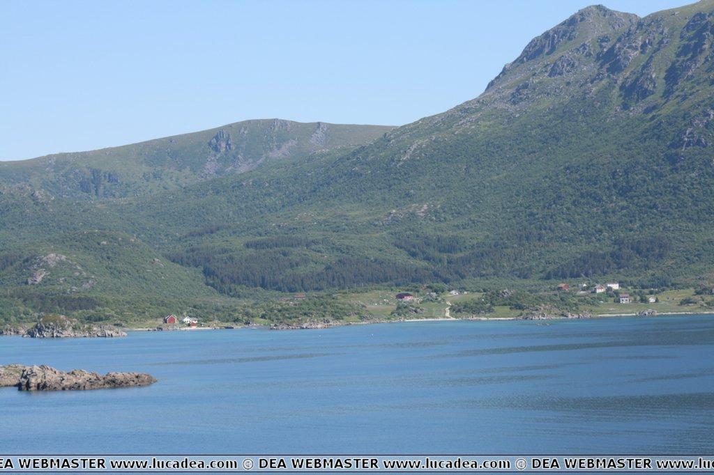 La baia di Gravdal in Norvegia