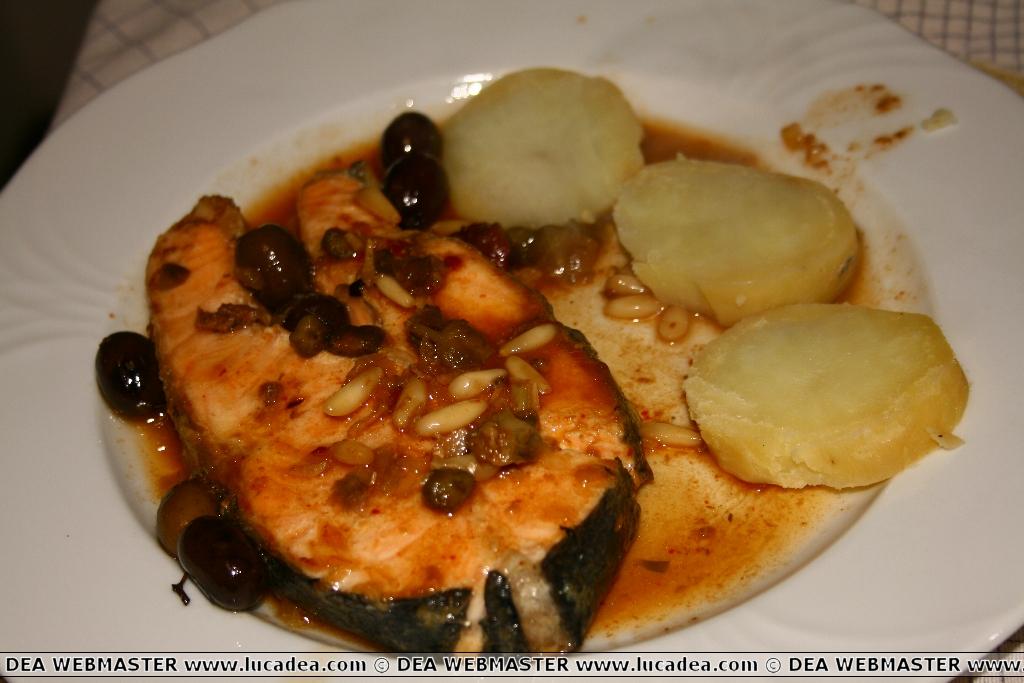 Salmone alla Ligure (foto)