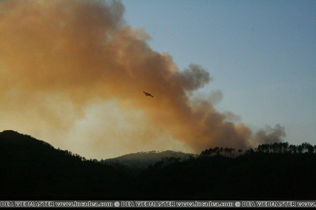 Incendio a Mattarana