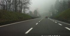 Autostrada con la nebbia (foto)