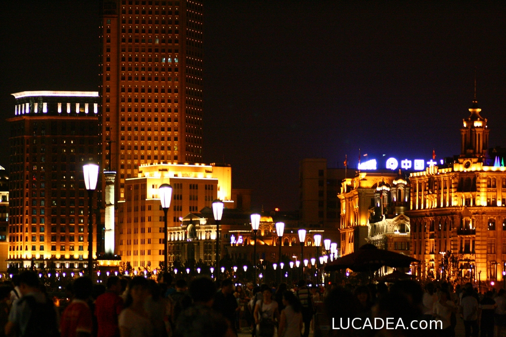 Shanghai in notturna