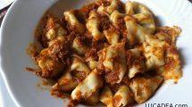 Pansotti (tortiglioni) al ragù di carne