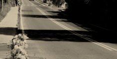 Una strada maledetta (foto bn)