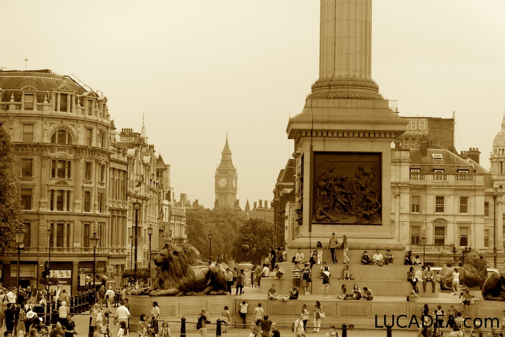 Trafalgar Square (foto seppia)