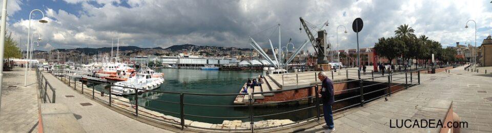 Panoramica del Porto Antico di Genova