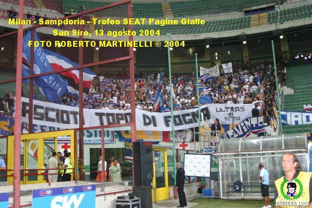 Milan-Sampdoria 2004/2005 trofeo Seat Pagine Gialle
