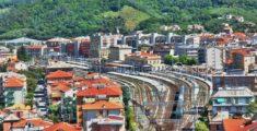 La stazione del treno vista dall'alto