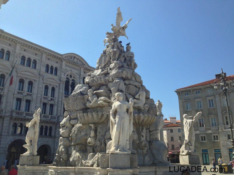 La fontana dei quattro continenti a Trieste