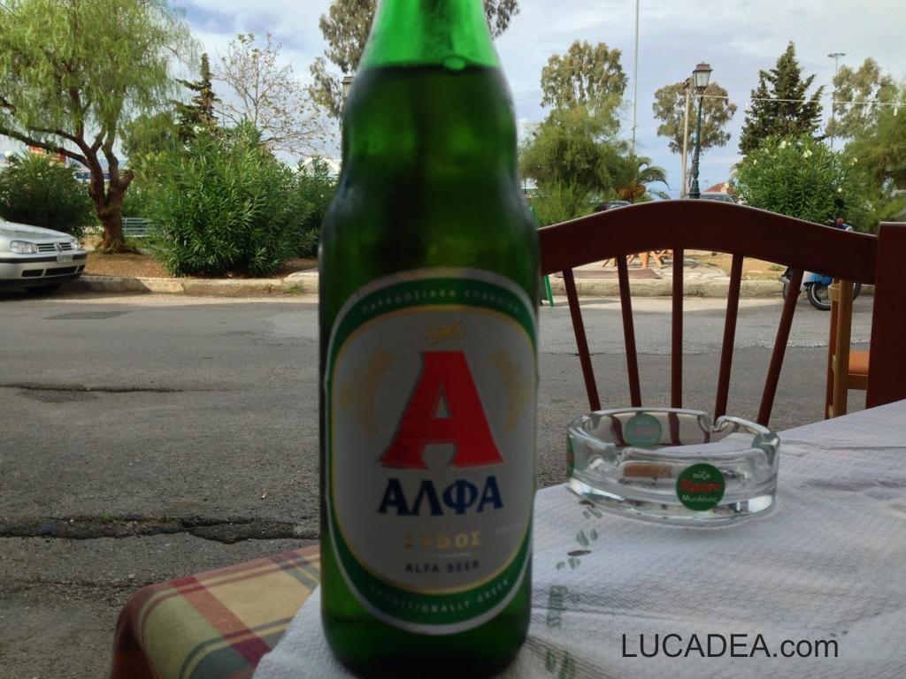 Birra Alfa, bionda greca