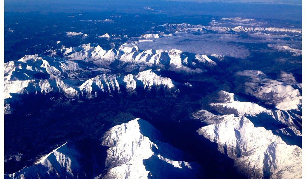 Le alpi viste dall'aereo