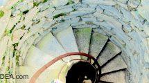 La scala a chiocciola della torre Doria a Vernazza