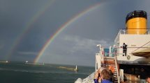 Arcobaleno su Costa Luminosa (foto)