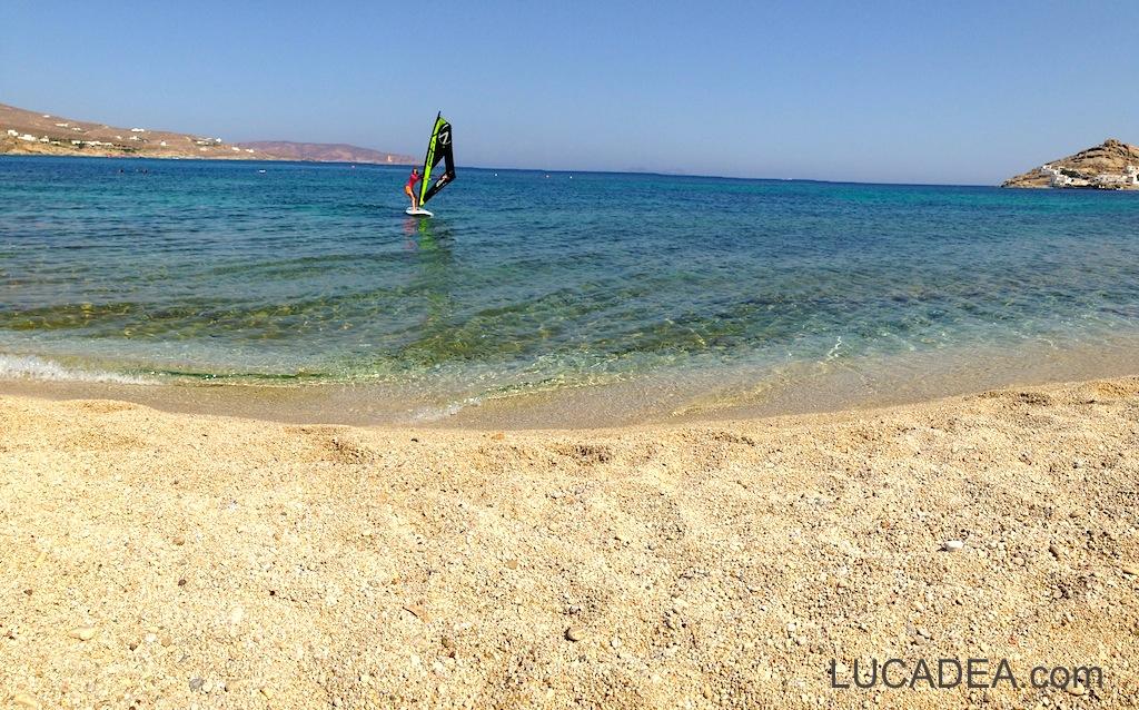 Spiaggia da sogno: Kalafatis a Mykonos