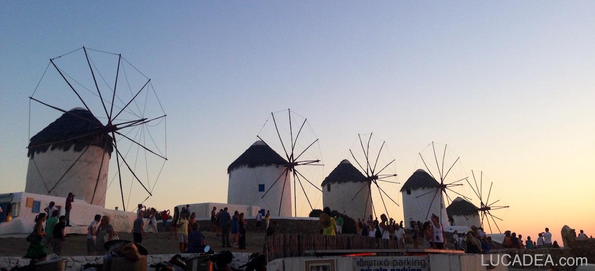 Mykonos the five windmills