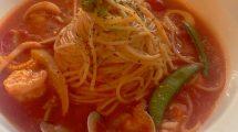 Spaghetti ai frutti di mare in Taiwan
