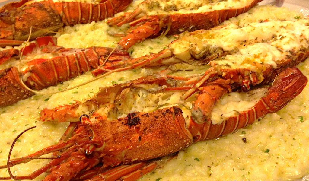 vassoio risotto al sugo di aragosta