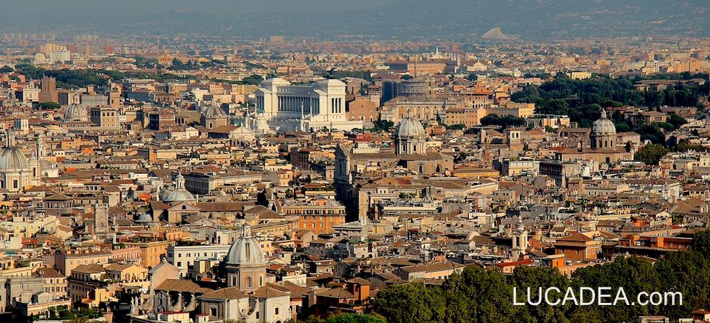 Veduta di Roma da San Pietro