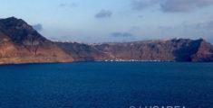 Panorama di Santorini dalla nave