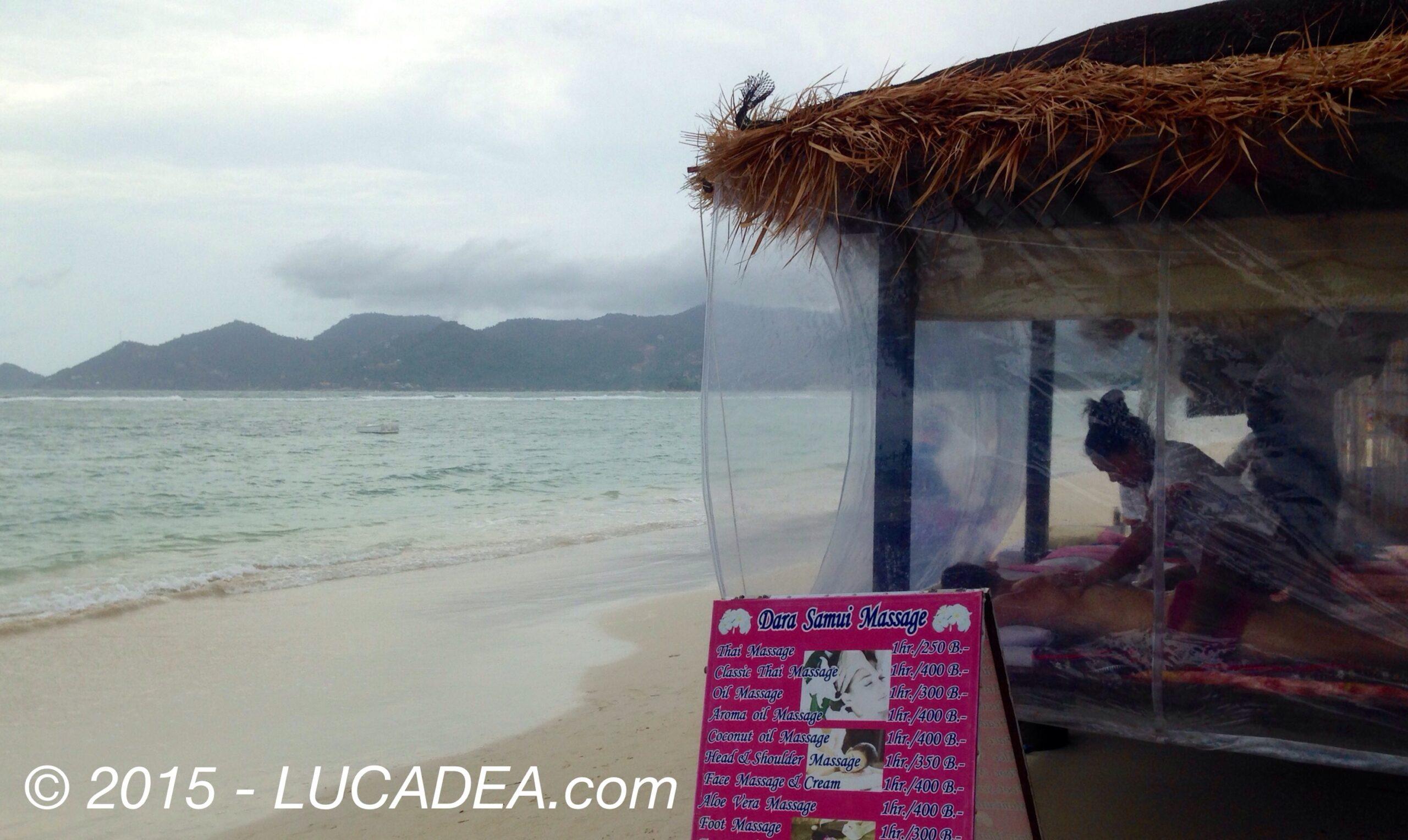 Massaggi in riva al mare