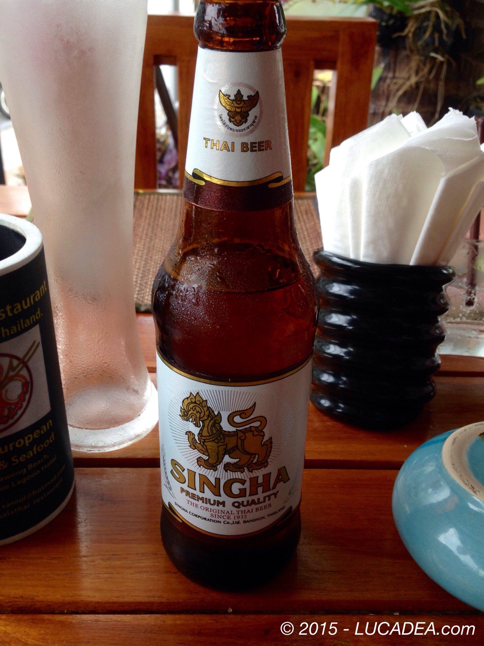 Birra Singha: bionda thailandese