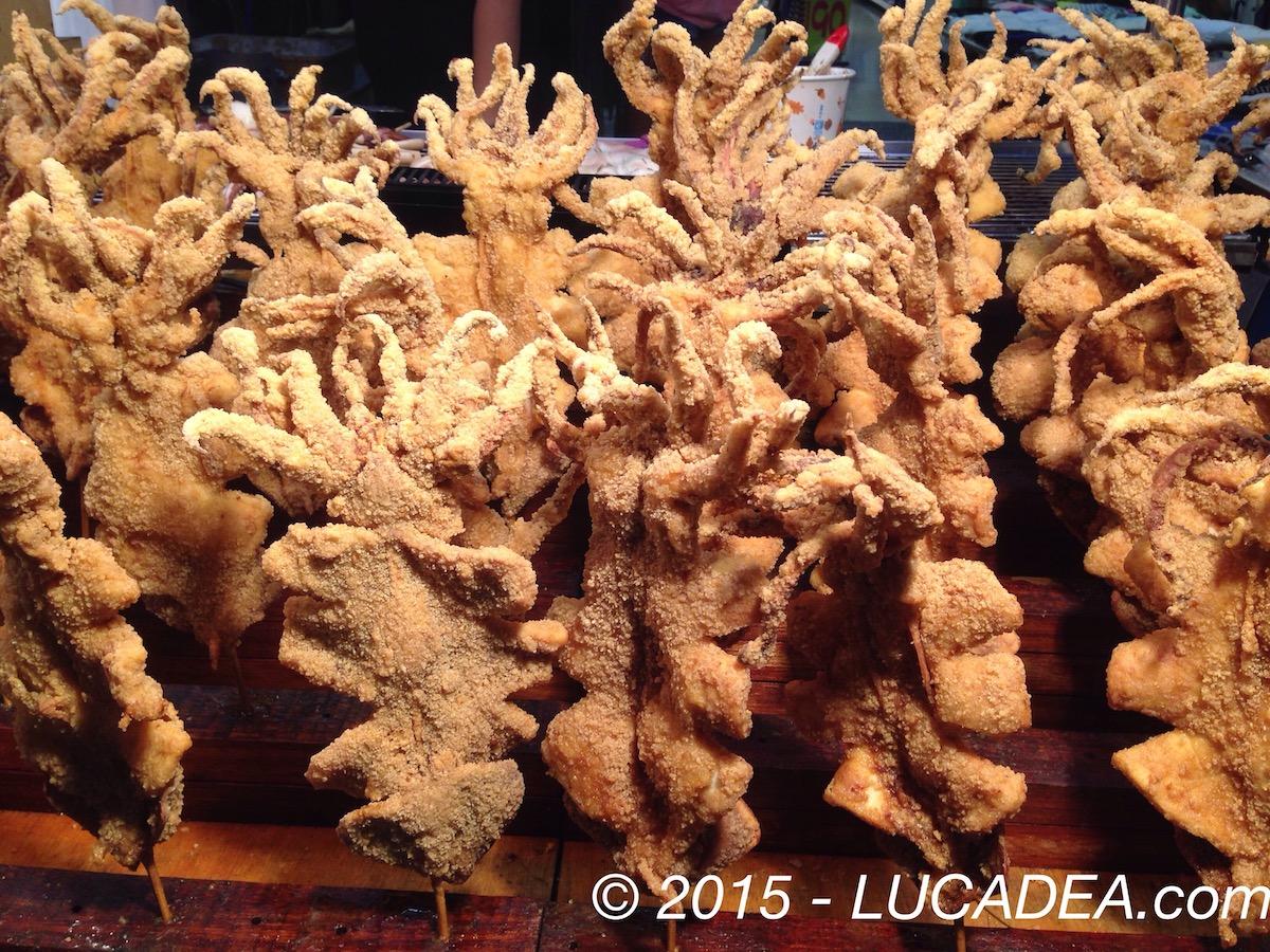 Calamari impannati da friggere