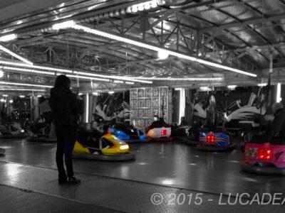 Autoscontri al Luna Park di Sestri Levante