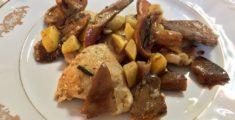 Scaloppine funghi e patate