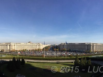 Bucarest vista dal Parlamento