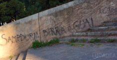 Graffiti Sampdoriani a Genova (foto)