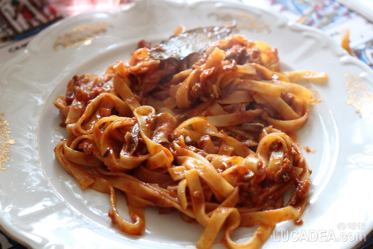 Tagliatelle al sugo di funghi, la ricetta