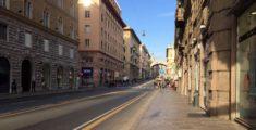 Via Venti Settembre a Genova: foto di prima mattina (foto)