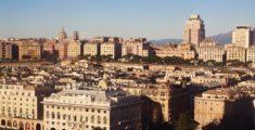 Panoramica di Genova dall'aereo (video)