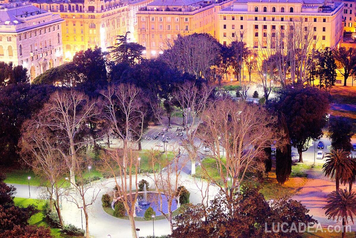 Giardini di Brignole in notturna