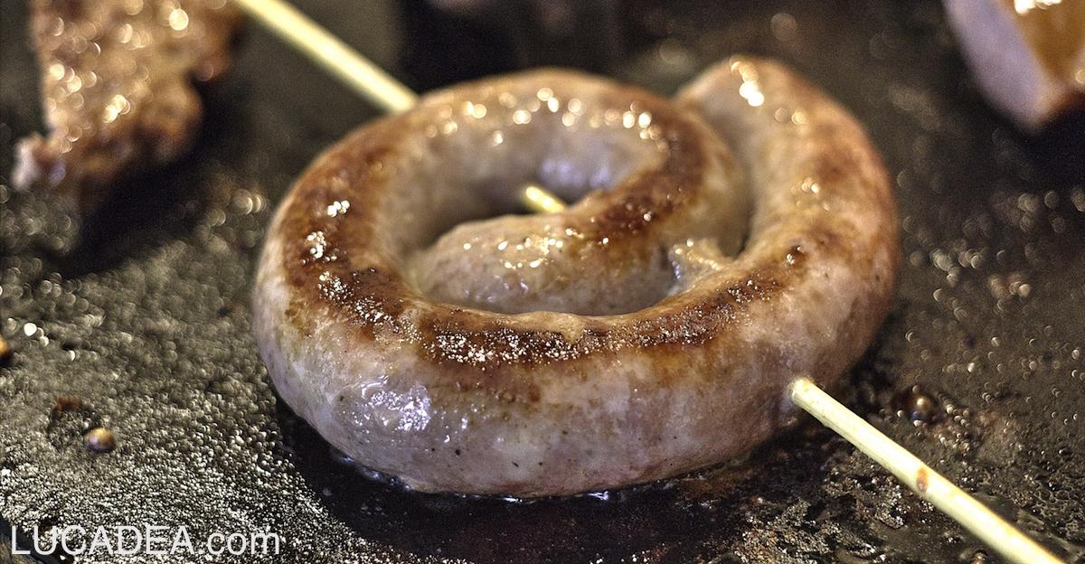Luganega alla griglia: un cibo lombardo anche da noi