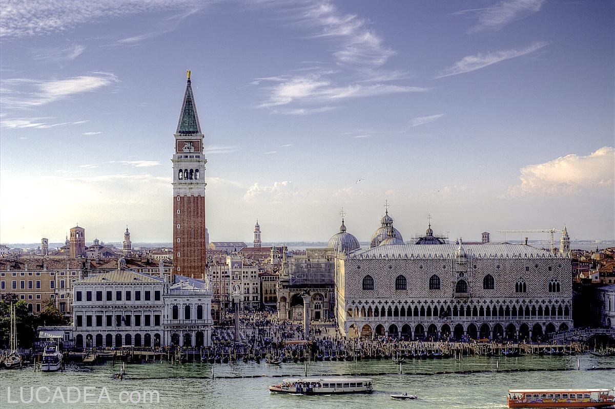 Piazza San Marco dalla nave: il simbolo della città lagunare