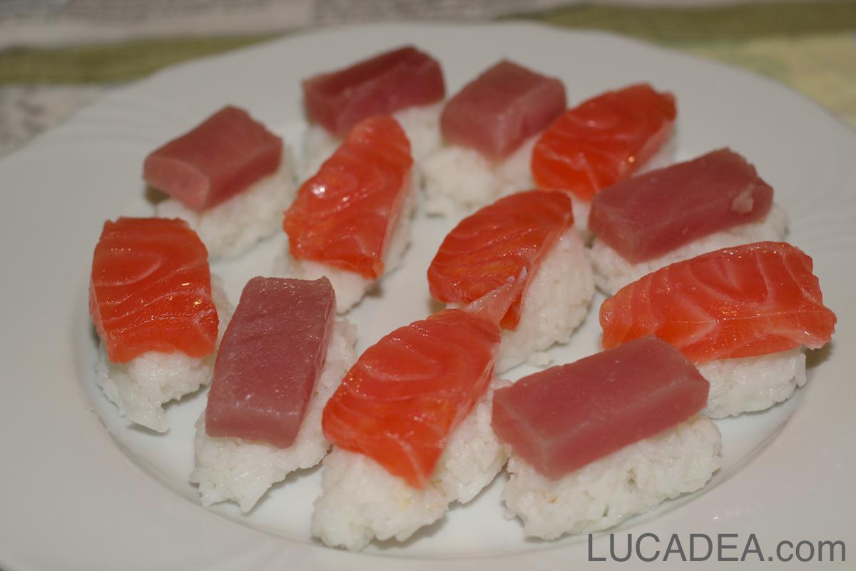 Nighiri salmone e tonno