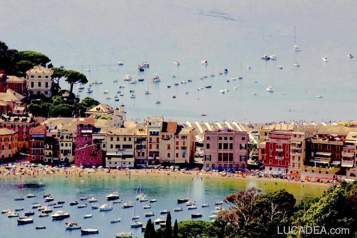 Le due Baie di Sestri Levante dalla Mandrella