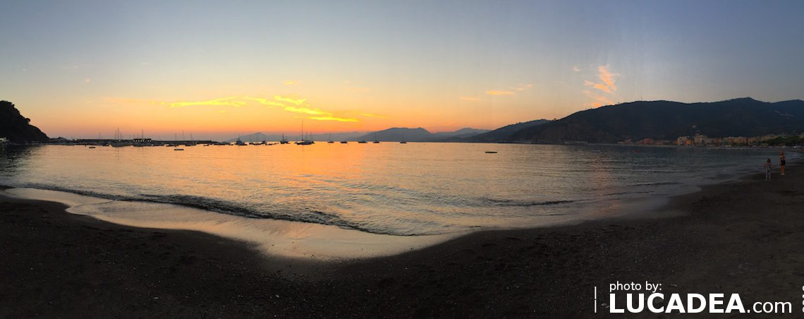 Tramonto in panoramica a Sestri