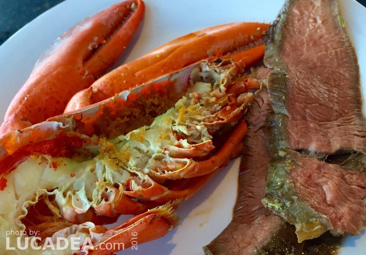 Aragosta e manzo: quando si dice carne e pesce