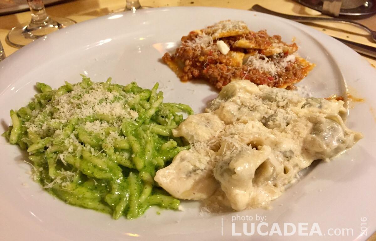 Tris di pasta alla genovese