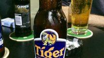 Birra Tiger: bionda di Singapore