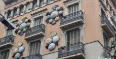 Ombrelli sulla rambla di Barcellona (foto)