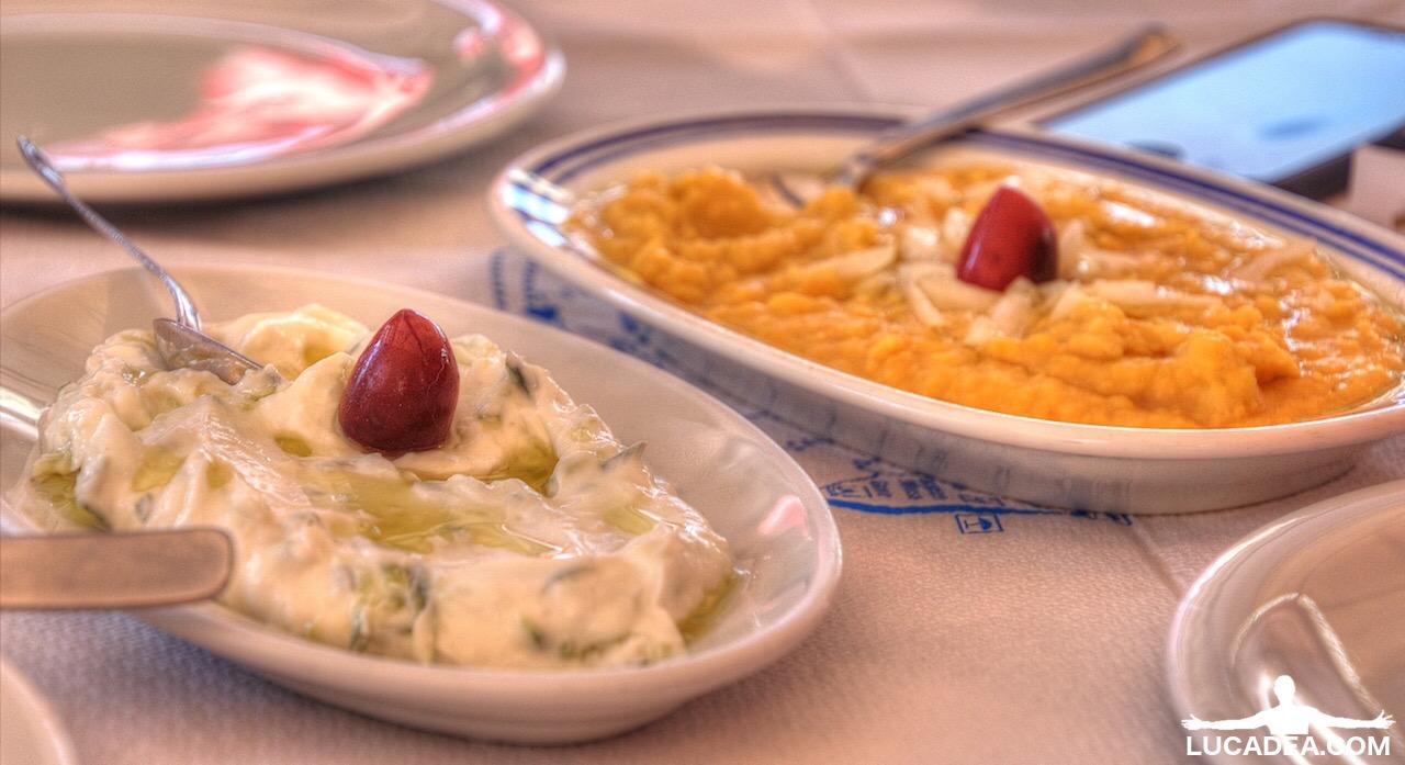 Tzatziki e hummus greco