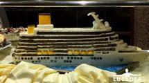 Modellino della nave in cioccolata (foto)