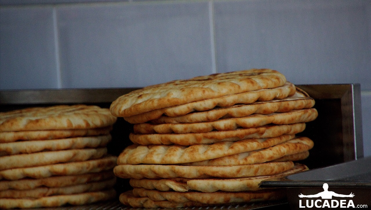 Pane per gyros greco (foto hdr)