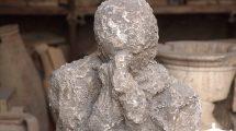 Il volto della dipartita: uno dei resti di Pompei