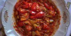 Ratatouille di peperoni e zucchine